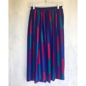Vintage Silky Striped Midi